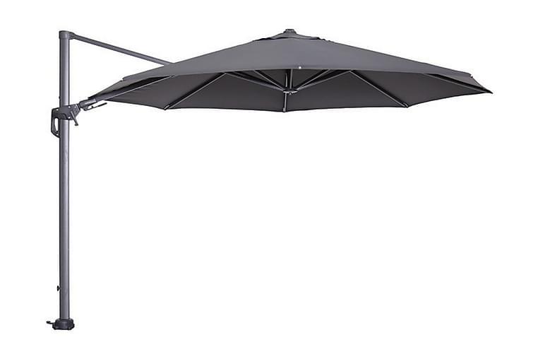 Hawaii Parasoll 350 cm Grå/Mørkegrå - Garden Impressions - Hagemøbler - Solbeskyttelse - Parasoller