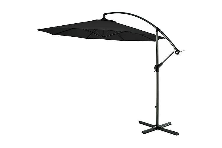 Hengeparasoll 300 cm - svart - Hagemøbler - Solbeskyttelse - Parasoller