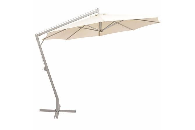Chiaia Parasoll Hengende 350 cm Aluminiumstang - Sand - Hagemøbler - Solbeskyttelse - Parasoller