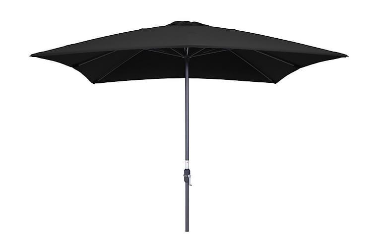 Lotus Parasoll 250x250 cm Svart - Garden Impressions - Hagemøbler - Solbeskyttelse - Parasoller