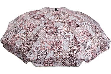 Morocco Parasoll Rød/Hvit