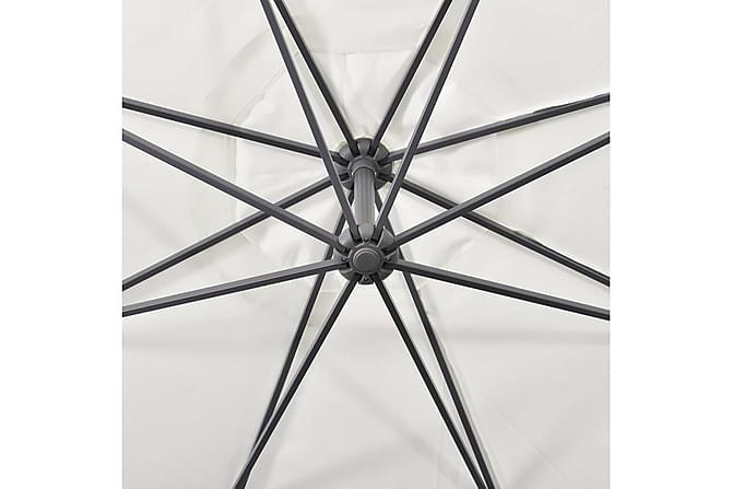 Panza Parasoll Fritthengende 350 cm - Sandhvit - Hagemøbler - Solbeskyttelse - Parasoller