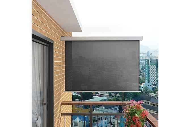 Sidemarkise til balkong multifunksjonell 180x200 cm grå - Hagemøbler - Solbeskyttelse - Parasoller