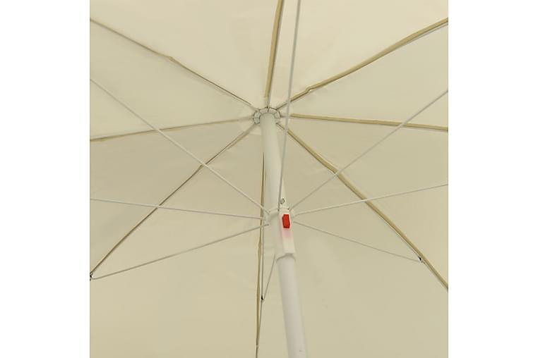 Strandparasoll sandgul 300 cm - Gul - Hagemøbler - Solbeskyttelse - Parasoller