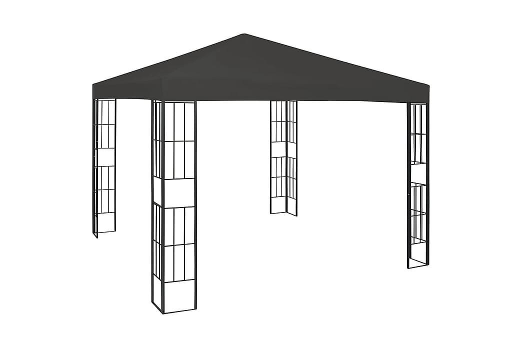 Paviljong 3x3 m antrasitt - Grå - Hagemøbler - Solbeskyttelse - Paviljonger