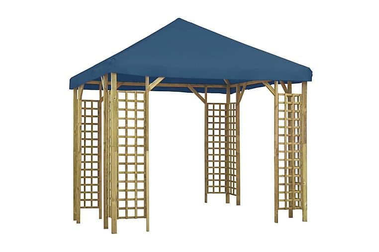 Paviljong 3x3 m blå - Blå - Hagemøbler - Solbeskyttelse - Paviljonger