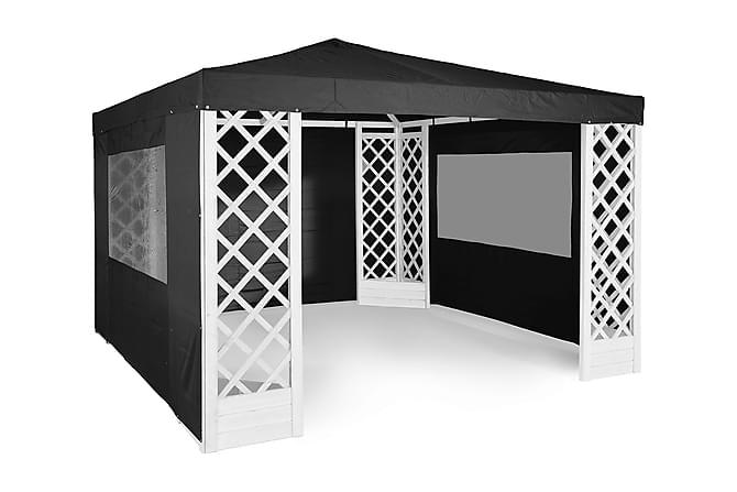 PAVILJONG DE LUXE HVITMALT - Hagemøbler - Solbeskyttelse - Paviljonger