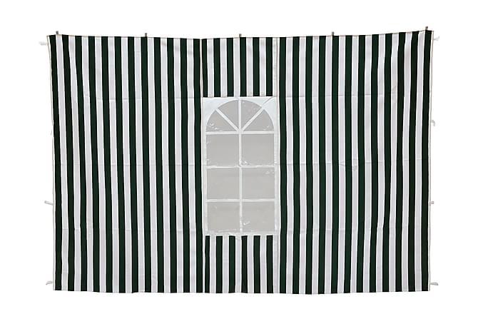 Paviljongvegger - Grønn/Hvit - Hagemøbler - Solbeskyttelse - Paviljonger
