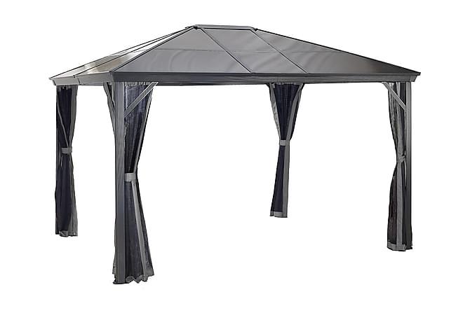 Pergola Verona 10 x 10 tak av 6 mm kanalplast - Hagemøbler - Solbeskyttelse - Pergola