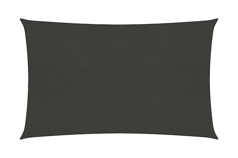 Solseil 160 g/m² antrasitt 2,5x4 m HDPE - Antrasittgrå - Hagemøbler - Solbeskyttelse - Solseil