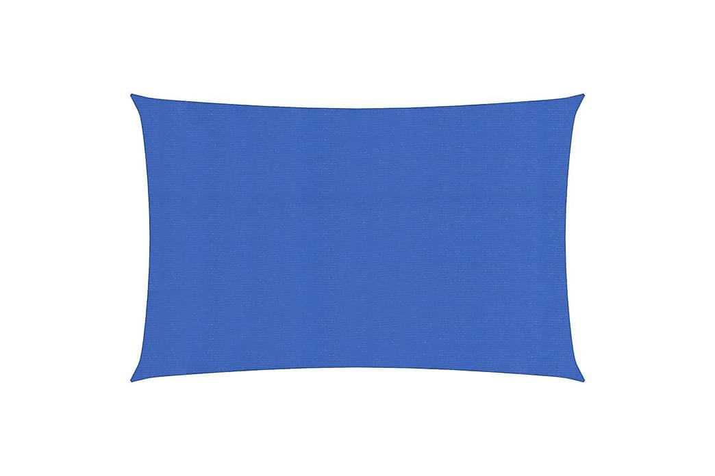 Solseil 160 g/m² blå 2x5 m HDPE - Blå - Hagemøbler - Solbeskyttelse - Solseil