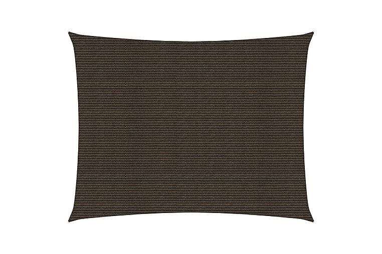 Solseil 160 g/m² brun 2,5x4,5 m HDPE - Brun - Hagemøbler - Solbeskyttelse - Solseil