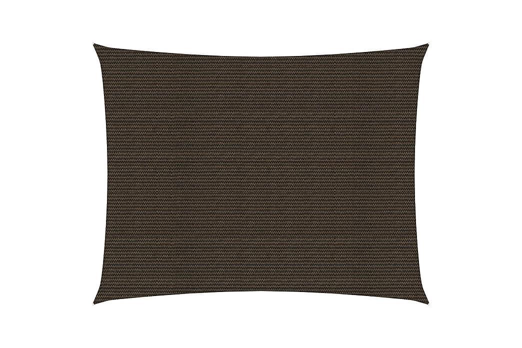Solseil 160 g/m² brun 3x4,5 m HDPE - Brun - Hagemøbler - Solbeskyttelse - Solseil