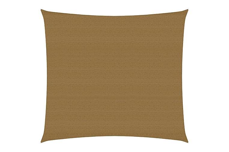 Solseil 160 g/m² gråbrun 2x2 m HDPE - Taupe - Hagemøbler - Solbeskyttelse - Solseil