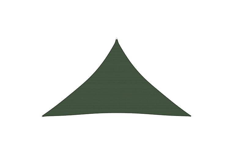 Solseil 160 g/m² mørkegrønn 3,5x3,5x4,9 m HDPE - grønn - Hagemøbler - Solbeskyttelse - Solseil