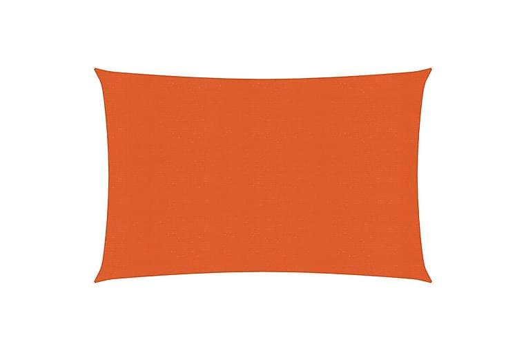 Solseil 160 g/m² oransje 2,5x4 m HDPE - Oransj - Hagemøbler - Solbeskyttelse - Solseil