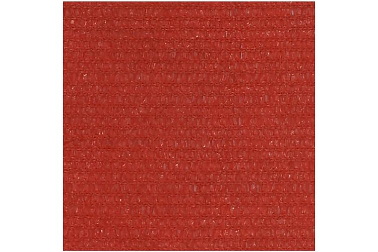 Solseil 160 g/m² rød 6x6x6 m HDPE - Rød - Hagemøbler - Solbeskyttelse - Solseil