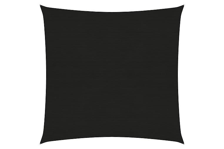 Solseil 160 g/m² svart 2,5x3 m HDPE - Svart - Hagemøbler - Solbeskyttelse - Solseil