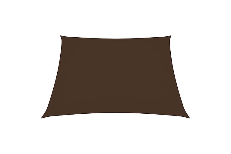 Solseil oxfordstoff firkantet 2x2 m brun - Brun - Hagemøbler - Solbeskyttelse - Solseil