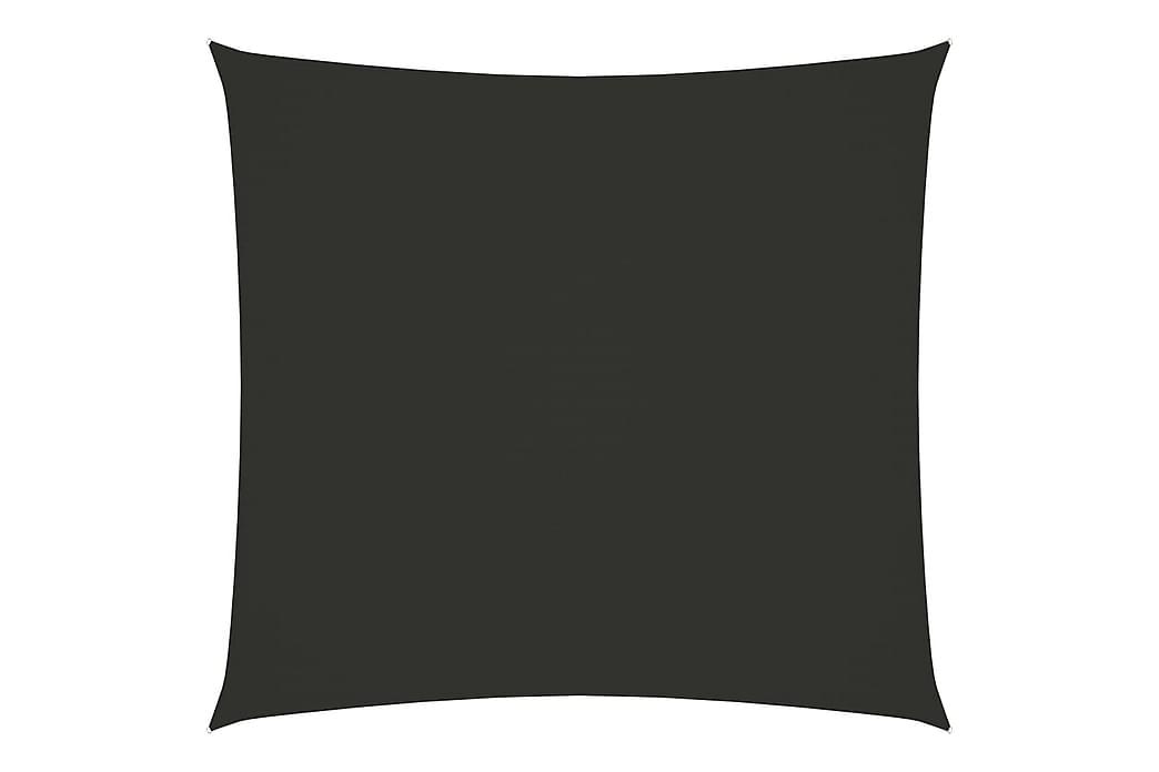 Solseil oxfordstoff kvadratisk 5x5 m antrasitt - Antrasittgrå - Hagemøbler - Solbeskyttelse - Solseil