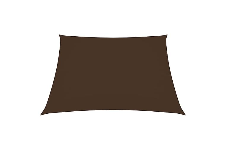 Solseil oxfordstoff rektangulær 2,5x3 m brun - Brun - Hagemøbler - Solbeskyttelse - Solseil