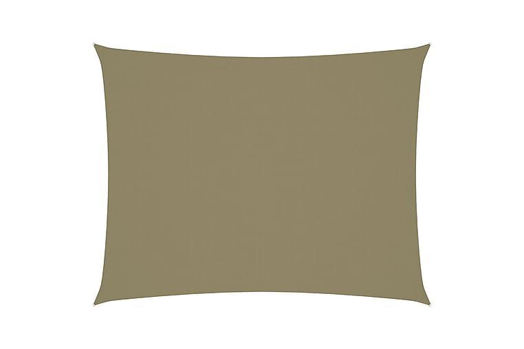 Solseil oxfordstoff rektangulær 2,5x4 m beige - Beige - Hagemøbler - Solbeskyttelse - Solseil
