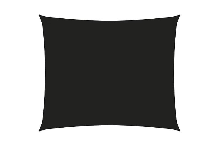 Solseil oxfordstoff rektangulær 3,5x4,5 m svart - Svart - Hagemøbler - Solbeskyttelse - Solseil