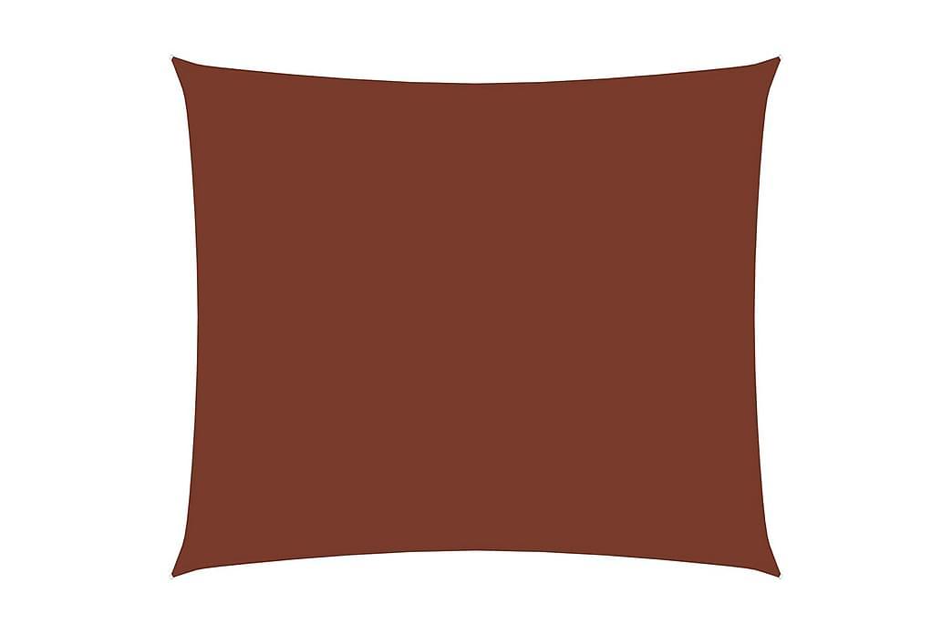 Solseil oxfordstoff rektangulær 3,5x4,5 m terrakotta - Hagemøbler - Solbeskyttelse - Solseil