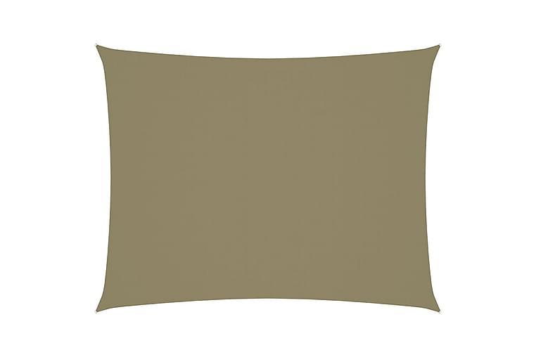 Solseil oxfordstoff rektangulær 3,5x5 m beige - Beige - Hagemøbler - Solbeskyttelse - Solseil
