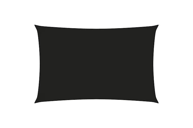 Solseil oxfordstoff rektangulær 4x7 m svart - Svart - Hagemøbler - Solbeskyttelse - Solseil