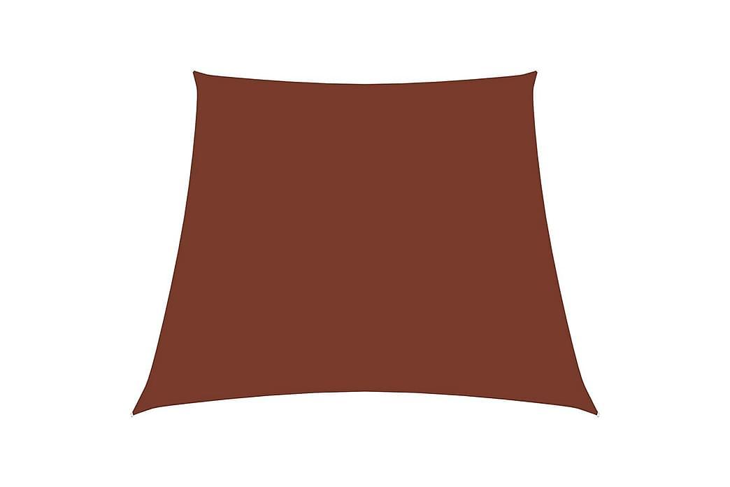 Solseil oxfordstoff trapesformet 4/5x3 m terrakotta - Hagemøbler - Solbeskyttelse - Solseil