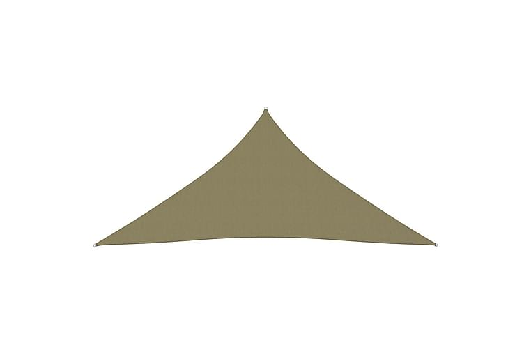 Solseil oxfordstoff trekantet 4,5x4,5x4,5 m beige - Beige - Hagemøbler - Solbeskyttelse - Solseil