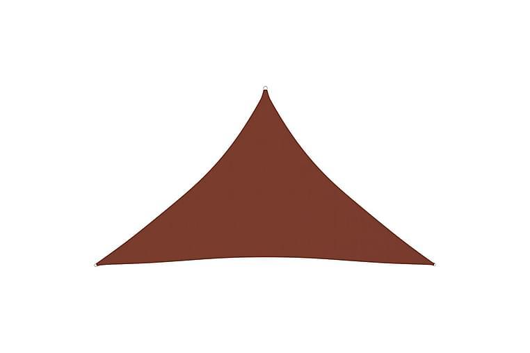 Solseil oxfordstoff trekantet 4x4x5,8 m terrakotta - Hagemøbler - Solbeskyttelse - Solseil