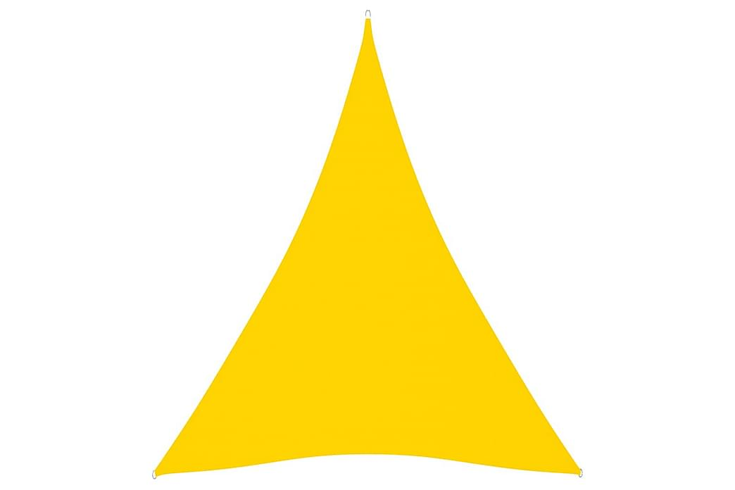 Solseil oxfordstoff trekantet 5x6x6 m gul - Gul - Hagemøbler - Solbeskyttelse - Solseil