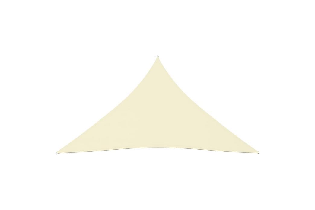 Solseil oxfordstoff trekantet 5x7x7 m kremhvit - Krem - Hagemøbler - Solbeskyttelse - Solseil