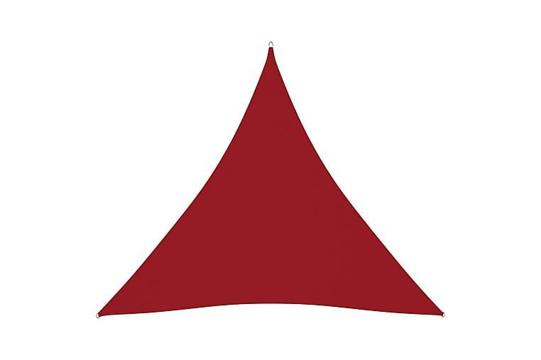 Solseil oxfordstoff trekantet 6x6x6 m rød - Rød - Hagemøbler - Solbeskyttelse - Solseil