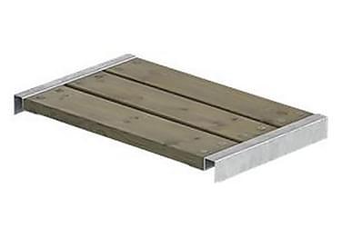 Cubic/Pipe benk lengde 60 cm med beslag grunnmalt gråbrun