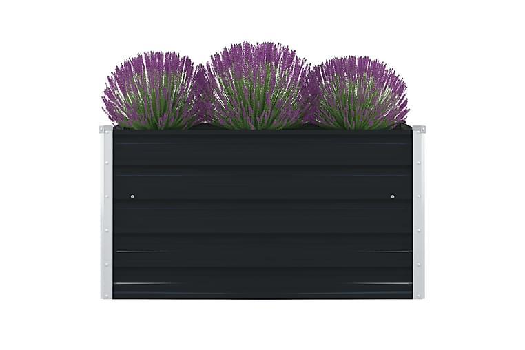 Forhøyet plantekasse 100x100x45cm galvanisert stål antrasitt - Hagemøbler - Tilbehør utendørs - Hagekrukker