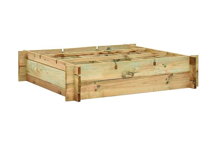 Høybed 90x90x20 cm impregnert tre - Hagemøbler - Tilbehør utendørs - Hagekrukker