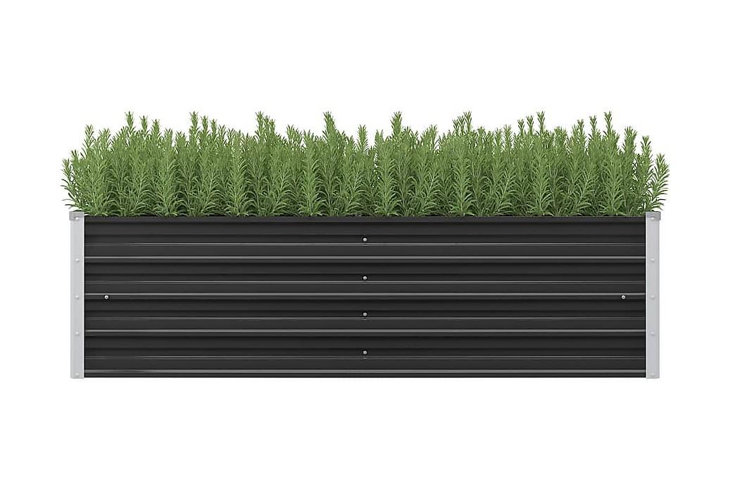 Høybed antrasitt 160x40x45 cm galvanisert stål - Grå - Hagemøbler - Tilbehør - Hagekrukker