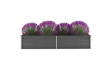 Plantekasse galvanisert stål 240x80x45 cm grå