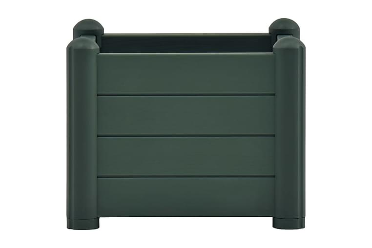 Høybed PP grønn 43x43x35 cm - Grønn - Hagemøbler - Tilbehør utendørs - Hagekrukker