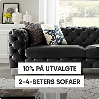 10% på utvalgte 2-4 seters sofaer