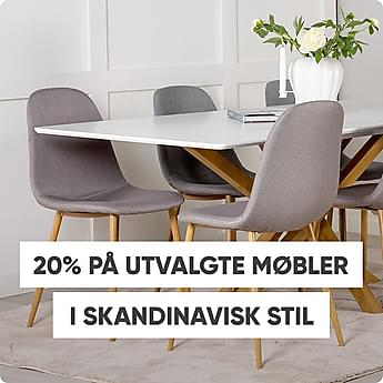 20% på utvalgte møbler i skandinavisk stil
