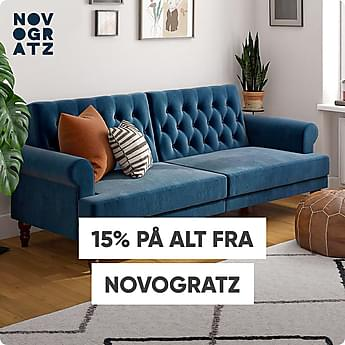 15% på alt fra Novogratz