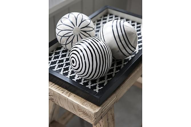 Derya Brett Stor - Hvit/Svart/Resin - Innredning - Dekorasjon - Brikker & tallerkener