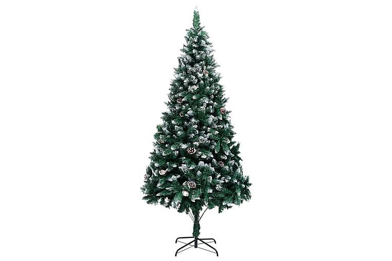 Kunstig juletre med furukongler & hvit snø 210 cm - Innredning - Dekorasjon - Julepynt & juledekorasjon