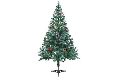 Kunstig juletre med kongler 150 cm