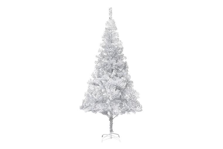 Kunstig juletre med stativ sølv 215 cm PET - Innredning - Dekorasjon - Julepynt & juledekorasjon