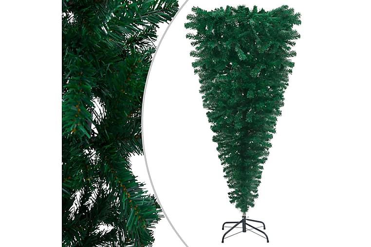 Opp-ned kunstig juletre med stativ grönt 210 cm - Innredning - Dekorasjon - Julepynt & juledekorasjon